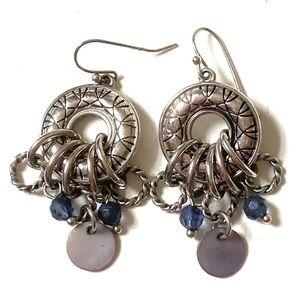 Lia Sophia Silver Blue Dangle earrings